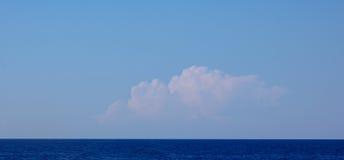 Distant storm cloud, Ibiza. Stock Image