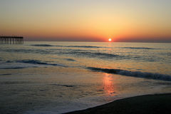 Distant Sunset Over the Sea Royalty Free Stock Photography