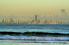 Distant Surfers Paradise Skyline Royalty Free Stock Image