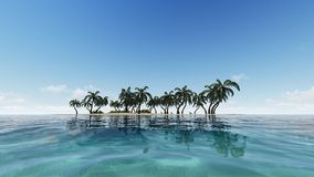 Distant tropical oasis seamless footage stock illustration
