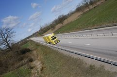 Distant truck panorama stock photography