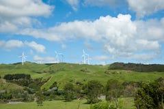 Distant turbines. Royalty Free Stock Photos