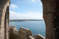 Distant view through arch Royalty Free Stock Images