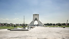 Distant view for Azadi tower. Azadi tower is landmark in Tehran, there is also a square and monument royalty free stock photography