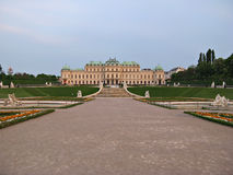 Distant view of Belvedere Palace in Vienna Royalty Free Stock Photos