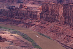 Distant view of Colorado River and Canyonlands National Park Stock Image