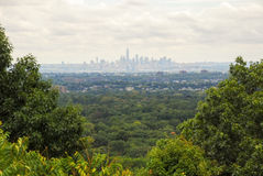 Distant View of Downtown New York City Royalty Free Stock Image