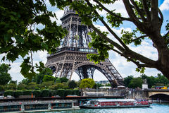 Distant view of the Eiffel Tower Stock Images