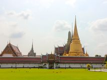 Distant view of the entrance to the Wat Phra Kaew, Temple of the Emerald Buddha royalty free stock image