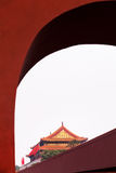 Distant view of Forbidden City in Beijing, China Royalty Free Stock Image