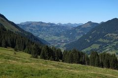 Distant view  Gstaad Stock Images