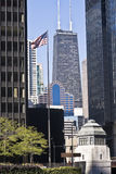 Distant view of Hancock Tower Royalty Free Stock Photography