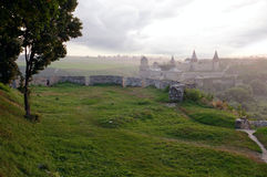 Distant view of Kamenets-Podolsky fortress Royalty Free Stock Photography