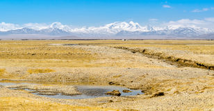 Distant View of Mount Everest. Royalty Free Stock Photos