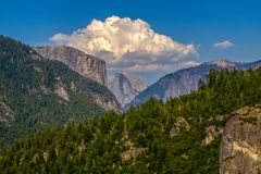 Distant View Of Half-Dome In Yosemite National Park Stock Photography