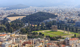 Distant view on Olympeion Royalty Free Stock Photos