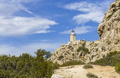 Free Distant View On Lighthouse In Melagavi Stock Images - 83323524