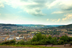 Distant view over Bath Stock Image