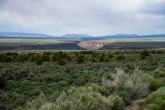 Rio Grande River Gorge, Taos, New Mexico stock images