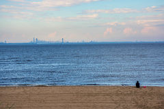 Distant View from Shoreline Royalty Free Stock Image