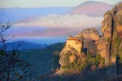 Distant view on St. Nicholas Anapausas Monastery Stock Photo
