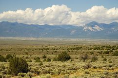 Distant view of Taos New Mexico Stock Images