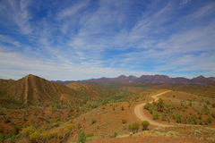 A distant view of Wilpena Pound. From this vantage point the ancient rocks of the Flinders Ranges are clearly visible Royalty Free Stock Images