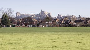 Distant view of Windsor Castle Royalty Free Stock Images