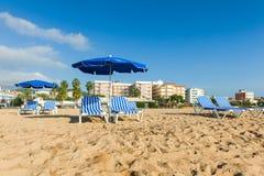 Distenda alla spiaggia Fotografie Stock Libere da Diritti