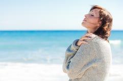 Distenda la spiaggia Fotografia Stock Libera da Diritti