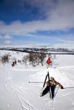 Distenda nella neve Fotografie Stock Libere da Diritti