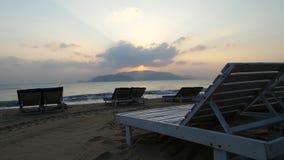Distenda su una spiaggia Fotografia Stock