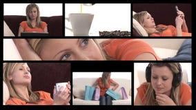 Distensione della donna archivi video