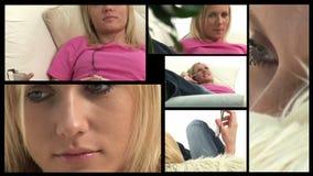 Distensione della donna video d archivio