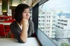 Distensione della giovane donna Fotografie Stock
