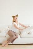 Distensione della ragazza Fotografie Stock