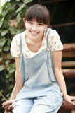 Distensione della ragazza dell'Asia esterna Immagini Stock Libere da Diritti