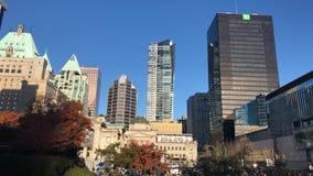 Distict ноябрь 2018 timelapse панорамы Ванкувера Канады городское акции видеоматериалы