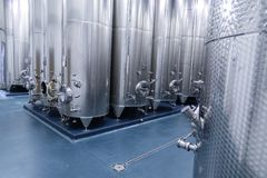 Distillation equipment for the food and beverage industry. Equipment for liquid processing stock photos