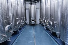 Distillation equipment for the food and beverage industry. Equipment for liquid processing royalty free stock images