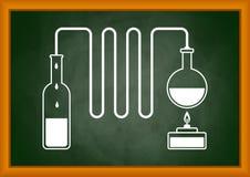 Distillation kit Stock Photo