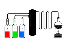 Distillation kit Royalty Free Stock Photography