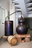 Distillation plant. A small distillation plant like decoration Royalty Free Stock Photo