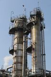 Distillation towers. Some distillation towers at a chemical plant Stock Images