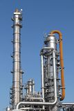 Distillation towers. At a chemical factory Royalty Free Stock Images