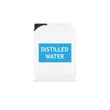 Distilled water icon Royalty Free Stock Images