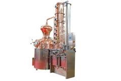 Distilleerderij die op wit wordt geïsoleerdw royalty-vrije stock foto's