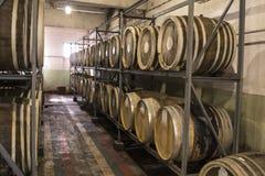 Distilleria del brandy e del whiskey fotografie stock libere da diritti