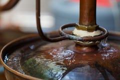 Distilleria del rum in Cambogia fotografia stock libera da diritti