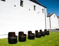 Distilleria di Ardbeg immagini stock